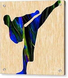 Karate Painting Acrylic Print by Marvin Blaine
