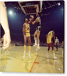 Kareem Abdul Jabbar  Acrylic Print by Retro Images Archive