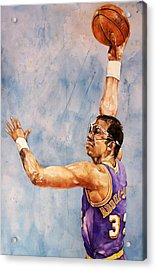 Kareem Abdul Jabbar Acrylic Print by Michael  Pattison