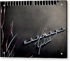 Karmann Black Acrylic Print by Douglas Pittman
