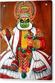 Kathakali Acrylic Print by Saranya Haridasan
