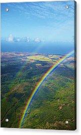 Kauai Double Rainbow Acrylic Print by Kicka Witte