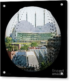 Kauffman Center For The Performing Arts Square Baseball Acrylic Print by Andee Design