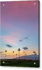 Kauhale Makai Sunset Acrylic Print by Pierre Leclerc Photography