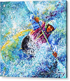 Kayak Crush Acrylic Print by Hanne Lore Koehler