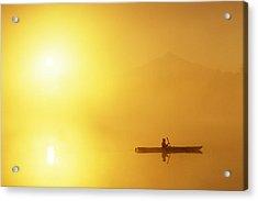 Kayaker Acrylic Print by Jim Corwin