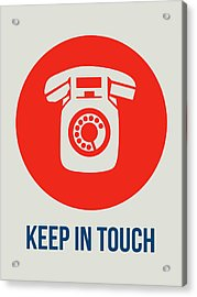 Keep In Touch 2 Acrylic Print by Naxart Studio