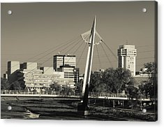 Keeper Of The Plains Footbridge Acrylic Print by Panoramic Images