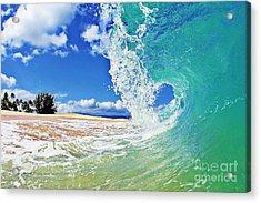 Keiki Beach Wave Acrylic Print by Paul Topp