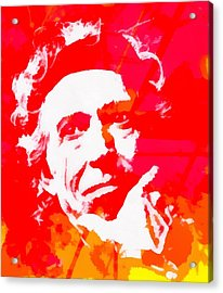 Keith Richards Acrylic Print by Dan Sproul