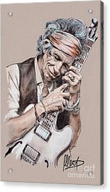 Keith Richards Acrylic Print by Melanie D