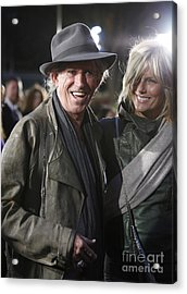 Keith Richards Acrylic Print by Nina Prommer