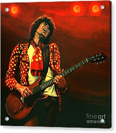 Keith Richards Painting Acrylic Print by Paul Meijering