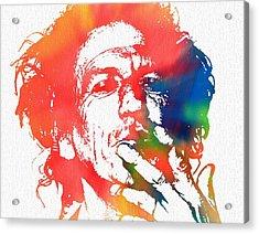Keith Richards Pop Art Acrylic Print by Dan Sproul