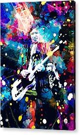 Keith Richards Acrylic Print by Rosalina Atanasova