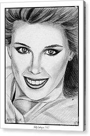 Kelly Emberg In 1983 Acrylic Print by J McCombie