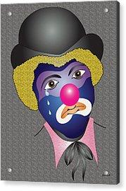 Kenny's Clown Acrylic Print by Charles Smith