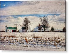 Kentucky Snow Day Acrylic Print by Darren Fisher