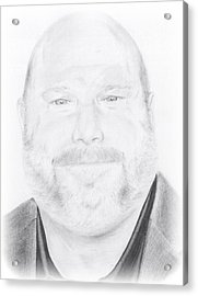 Kevin Chamberlin Portrait Acrylic Print by Trevin  Nocent