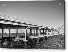 Key Biscayne Bridge Bw Acrylic Print by Eyzen M Kim