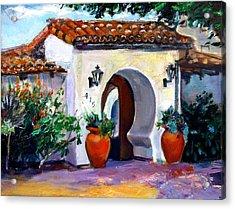 Key Hole Archway 415 Acrylic Print by Renuka Pillai