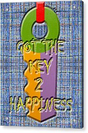 Key To Happiness Acrylic Print by Patrick J Murphy