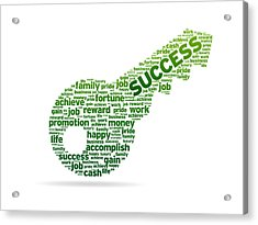 Key To Success Acrylic Print by Aged Pixel