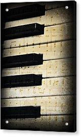 Keyboard Music Acrylic Print by Kenny Francis