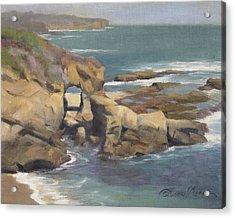 Keyhole Rock At The Montage Laguna Beach Acrylic Print by Anna Rose Bain