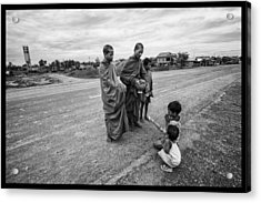 Khmer Rouge Monks Acrylic Print by David Longstreath
