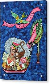 Kick Up Your Heels Frida Acrylic Print by Ilene Satala