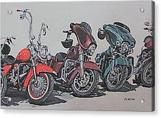 Kickstand Acrylic Print by Patricio Lazen