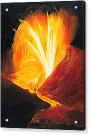 Kilauea Volcano In Hawaii Acrylic Print by Phillip Compton