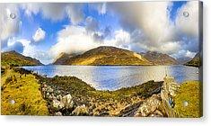 Killary Fjord - Irish Panorama Acrylic Print by Mark E Tisdale