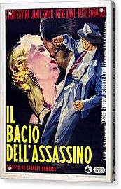 Killers Kiss, Italian Poster, Irene Acrylic Print by Everett