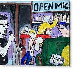 Killing - Open Mic Acrylic Print by James  Christiansen