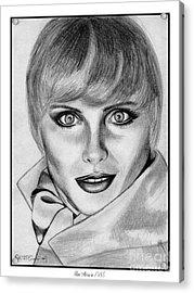 Kim Alexis In 1985 Acrylic Print by J McCombie