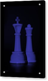 King And Queen In Purple Acrylic Print by Rob Hans