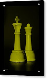 King And Queen In Yellow Acrylic Print by Rob Hans