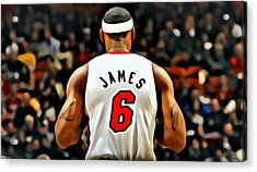 King James Acrylic Print by Florian Rodarte