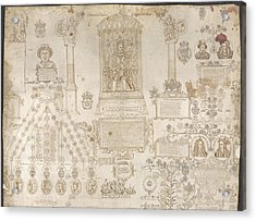 King James I Enthroned Acrylic Print by British Library