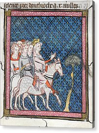 King Louis Vii Rides To Antioch Acrylic Print by British Library