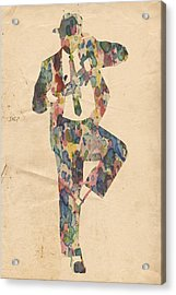 King Of Pop In Concert No 10 Acrylic Print by Florian Rodarte