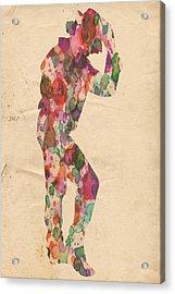King Of Pop In Concert No 12 Acrylic Print by Florian Rodarte