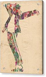 King Of Pop In Concert No 13 Acrylic Print by Florian Rodarte