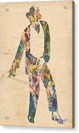 King Of Pop In Concert No 14 Acrylic Print by Florian Rodarte