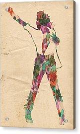 King Of Pop In Concert No 2 Acrylic Print by Florian Rodarte