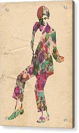 King Of Pop In Concert No 5 Acrylic Print by Florian Rodarte
