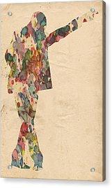 King Of Pop In Concert No 7 Acrylic Print by Florian Rodarte