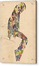 King Of Pop In Concert No 9 Acrylic Print by Florian Rodarte